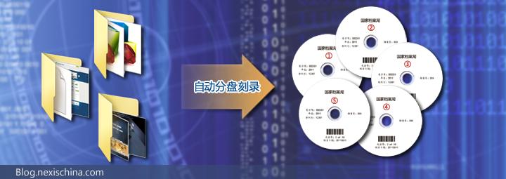 超量数据自动分配到多张光盘刻录